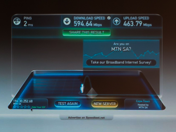 Speedtest - 594mbps